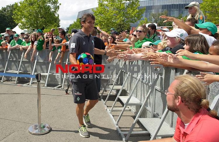 28.07.2013, Weserstadion, Bremen, GER, 1.FBL, Werder Bremen Tag der Fans 2013, im Bild Damir Buric (Co-Trainer Werder Bremen)<br /> <br /> Foto &copy; nph / Frisch