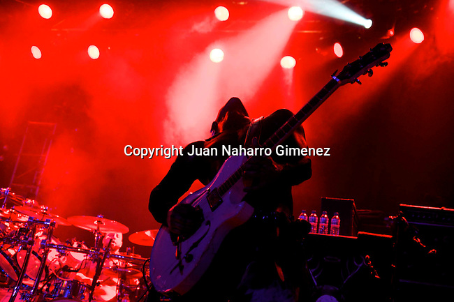 MADRID, SPAIN - SEPTEMBER 12: Wes Borland of Limp Bizkit performs live on the stage at La Riviera on September 12, 2010 in Madrid, Spain. (Photo by Juan Naharro Gimenez)