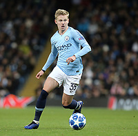 Manchester City's Oleksandr Zinchenko<br /> <br /> Photographer Rich Linley/CameraSport<br /> <br /> UEFA Champions League Group F - Manchester City v TSG 1899 Hoffenheim - Wednesday 12th December 2018 - The Etihad - Manchester<br />  <br /> World Copyright © 2018 CameraSport. All rights reserved. 43 Linden Ave. Countesthorpe. Leicester. England. LE8 5PG - Tel: +44 (0) 116 277 4147 - admin@camerasport.com - www.camerasport.com