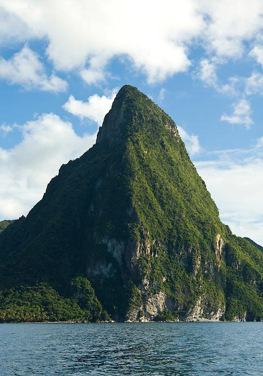 Saint Lucias most distinctive landmark, the pitons