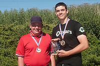 04 July 2010: Fabien Carette-Legrand, Keenan Schlegel, Cougars Montigny, little league, championnat Cadets, Ronchin, France.