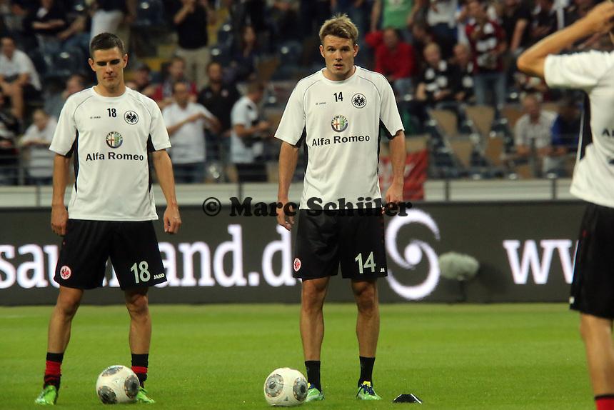 Johannes Flum und Alex Meier (Eintracht) - Eintracht Frankfurt vs. Karabach Adam, UEFA Europa League 1. Runde, Rückspiel