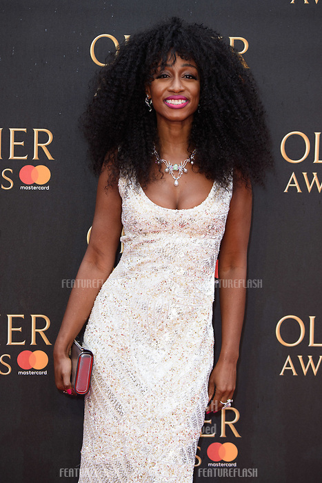 Beverley Knight arriving for the Olivier Awards 2018 at the Royal Albert Hall, London, UK. <br /> 08 April  2018<br /> Picture: Steve Vas/Featureflash/SilverHub 0208 004 5359 sales@silverhubmedia.com