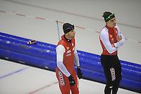 SCHAATSEN: HEERENVEEN: IJsstadion Thialf, 04-02-15, Training World Cup, Konrad Niedzwiezki (POL), ©foto Martin de Jong