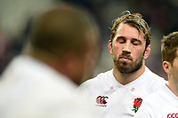 Chris Robshaw of England  looks dejected after the match. Natwest 6 Nations match between France and England on March 10, 2018 at the Stade de France in Paris, France. Photo by: Patrick Khachfe / Onside Images