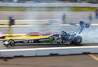 Aug 21, 2016; Brainerd, MN, USA; NHRA top fuel driver Brittany Force during the Lucas Oil Nationals at Brainerd International Raceway. Mandatory Credit: Mark J. Rebilas-USA TODAY Sports