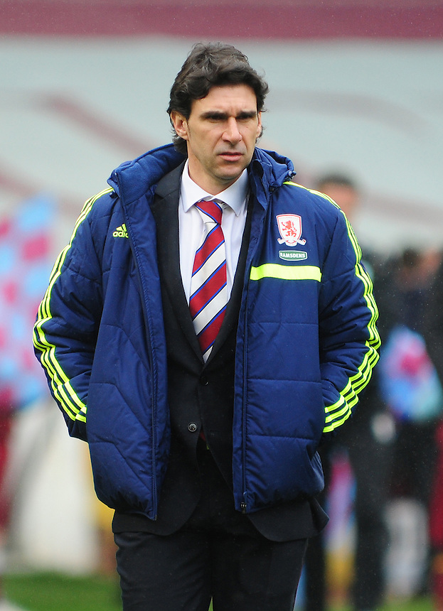 Middlesbrough's Manager Aitor Karanka <br /> <br /> Photo by Chris Vaughan/CameraSport<br /> <br /> Football - The Football League Sky Bet Championship - Burnley v Middlesbrough - Saturday 12th April 2014 - Turf Moor - Burnley<br /> <br /> &copy; CameraSport - 43 Linden Ave. Countesthorpe. Leicester. England. LE8 5PG - Tel: +44 (0) 116 277 4147 - admin@camerasport.com - www.camerasport.com