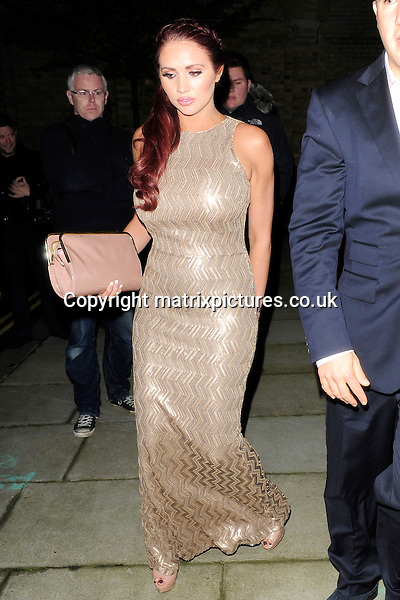 NON EXCLUSIVE PICTURE: MATRIXPICTURES.CO.UK<br /> PLEASE CREDIT ALL USES<br /> <br /> WORLD RIGHTS<br /> <br /> English reality television star Amy Childs attending a private dinner party for Eva Longoria, held by businessman John Caudwell at his residence in London, on the eve of her Annual Global Gift Gala event. <br /> <br /> NOVEMBER 18th 2013<br /> <br /> REF: ASI 137462