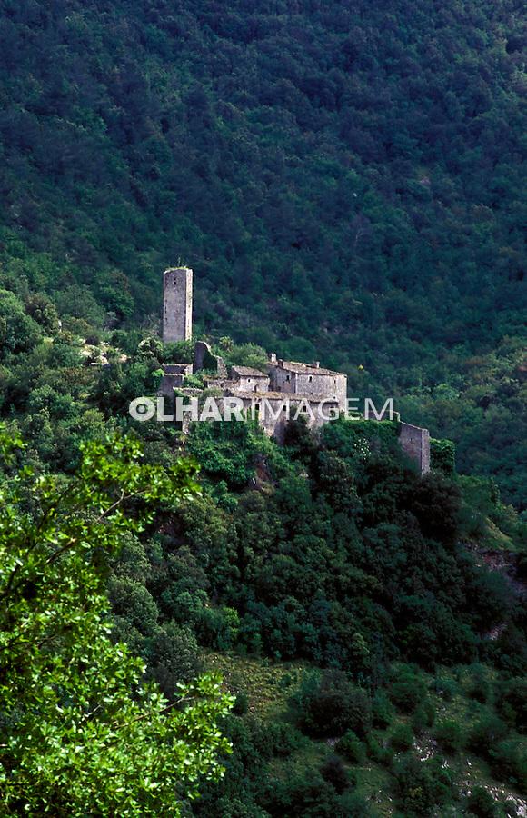 Mosteiro no caminho de São Francisco, Umbria. Itália 2002. Foto de Vinicius Romanini.