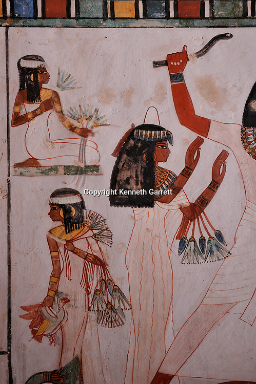 Zahi Hawass Secret Egypt Travel Guide; Egypt; archaeology; Luxor; West Bank; El Qurna; Tombs of the nobles, Tomb of Menna, TT 69, New Kingdom, fishing and hunting scenes