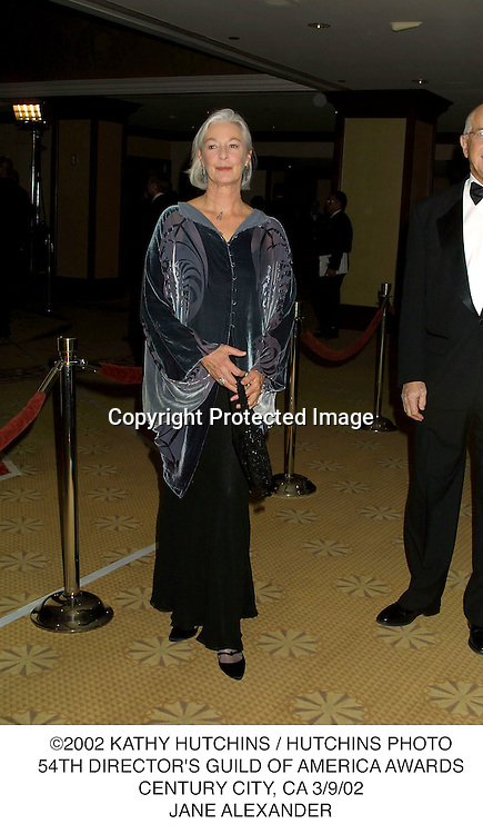 ©2002 KATHY HUTCHINS / HUTCHINS PHOTO.54TH DIRECTOR'S GUILD OF AMERICA AWARDS.CENTURY CITY, CA 3/9/02.JANE ALEXANDER