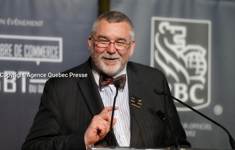 Thierry Arnaud,  President de la Chambre LGBT du Quebec au<br /> 13 ieme Gala Phenicia , 25 mai 2017