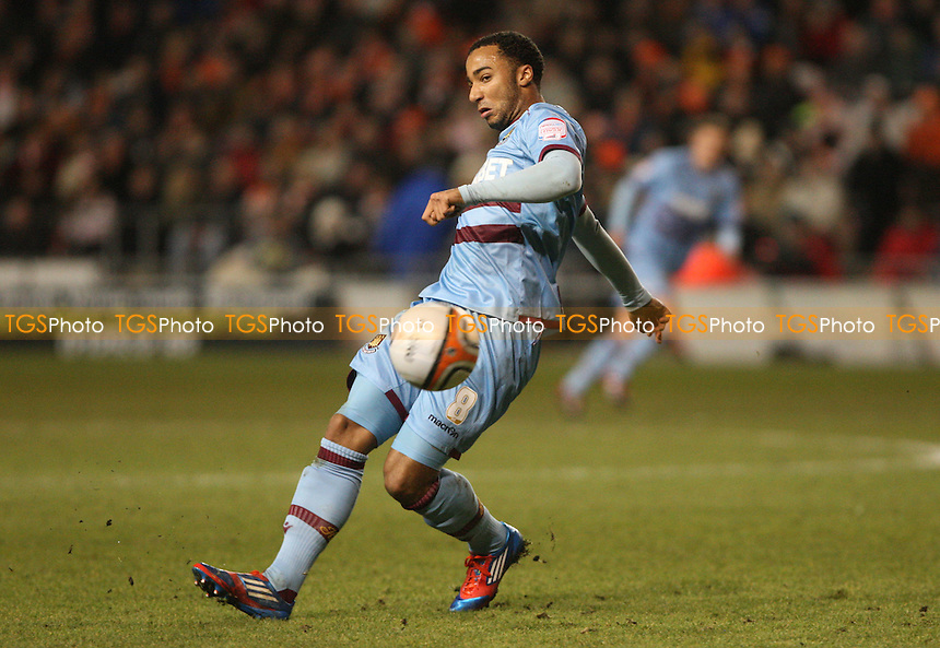 Nicky Maynard of West Ham - Blackpool vs West Ham United, npower Championship at Bloomfield Road, Blackpool - 21/02/12 - MANDATORY CREDIT: Rob Newell/TGSPHOTO - Self billing applies where appropriate - 0845 094 6026 - contact@tgsphoto.co.uk - NO UNPAID USE..