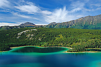 Emerald Lake and the Coast Mountains on the South Klondike Highway<br /> south of Whitehorse<br /> Northwest Territories<br /> Canada