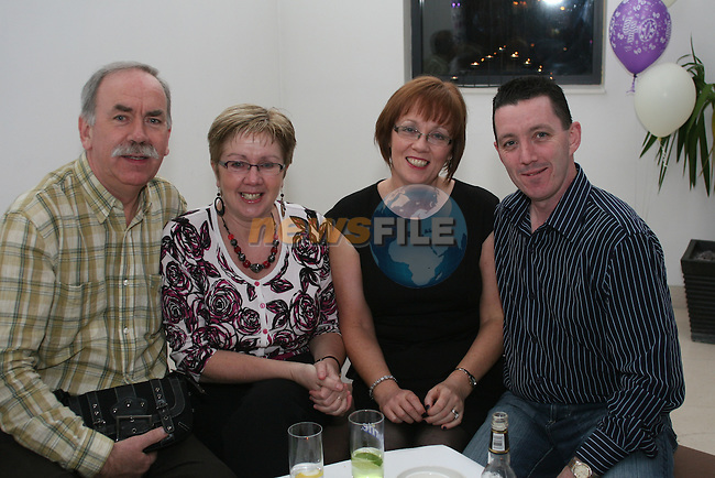 Mick and Laura Rafferty with Fiona and Liam Kelly at Linda Cruise's 40th in the d Hotel...Photo NEWSFILE/Jenny Matthews.(Photo credit should read Jenny Matthews/NEWSFILE)....This Picture has been sent you under the condtions enclosed by:.Newsfile Ltd..The Studio,.Millmount Abbey,.Drogheda,.Co Meath..Ireland..Tel: +353(0)41-9871240.Fax: +353(0)41-9871260.GSM: +353(0)86-2500958.email: pictures@newsfile.ie.www.newsfile.ie.FTP: 193.120.102.198.
