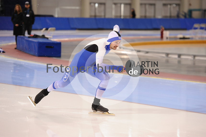 SPEEDSKATING: SALT LAKE CITY: 06-12-2017, Utah Olympic Oval, ISU World Cup, training, Miro Puolakka (FIN), photo Martin de Jong