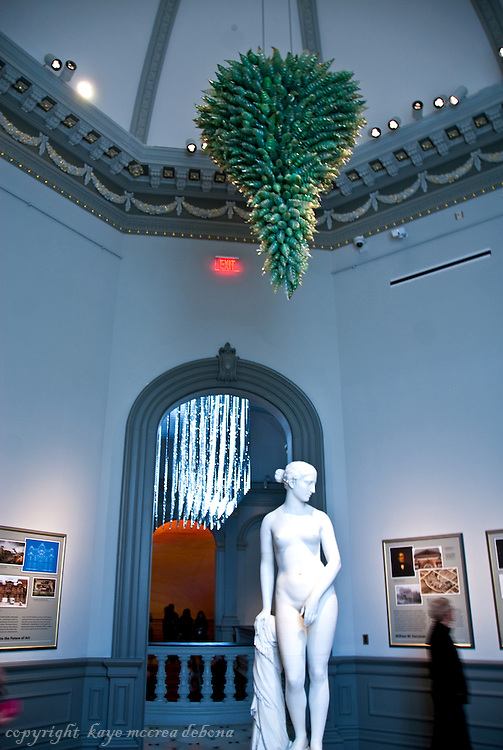 """Wonder"" is the inaugural exhibition at the Renwick Gallery in Washington D.C. - Chihuly Glass Chandelier"
