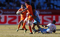 Action from the Super Rugby match between the Vodacom Bulls and the Jaguares at Loftus Versfeld in Pretoria, South Africa on Saturday, 7 July 2018. Photo by Steve Haag / stevehaagsports.com