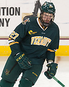 Ori Abramson (UVM - 27) - The visiting University of Vermont Catamounts tied the Boston College Eagles 2-2 on Saturday, February 18, 2017, Boston College's senior night at Kelley Rink in Conte Forum in Chestnut Hill, Massachusetts.Vermont and BC tied 2-2 on Saturday, February 18, 2017, Boston College's senior night at Kelley Rink in Conte Forum in Chestnut Hill, Massachusetts.