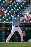 Buffalo Bisons Reese McGuire (7) at bat during an International League game against the Lehigh Valley IronPigs on June 9, 2019 at Sahlen Field in Buffalo, New York.  Lehigh Valley defeated Buffalo 7-6 in 11 innings.  (Mike Janes/Four Seam Images)