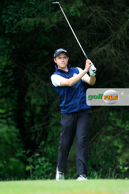 Charlie Denvir (Milltown) on the 2nd tee during Round 3 of the Irish Boys Amateur Open Championship at Tuam Golf Club on Thursday 25th June 2015.<br /> Picture:  Thos Caffrey / www.golffile.ie
