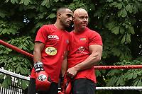Kid Galahad (L) during a Public Work Out at ITV Head Office on 12th July 2017