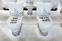 Installation on the theme of water in the Czech Republic Pavilion at Expo 2015, Rho-Pero, Milan, July 2015. On each of the toilet lid, there is an information about water consumption; in the photo: &quot;When you have a shower you may consume only half the water you consume when you have a bath&quot;, &quot;One of nine people does not have access to clean water&quot;. &copy; Carlo Cerchioli<br /> <br /> Installazione sul tema dell'acqua nel padiglione della Repubblica Ceca a Expo 2015, Rho-Pero, Milano, luglio 2015. Ogni coperchio dei wc riporta informazioni sul comsumo dell'acqua; nella foto &quot;Quando fai una doccia puoi consumare la met&agrave; dell'acqua di quando fai un bagno&quot;, &quot;Una persona su nove non ha accesso all'acqua pulita&quot;.