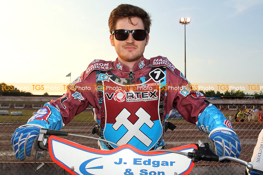 Richard Lawson of Lakeside Hammers - Lakeside Hammers vs Poole Pirates - Sky Sports Elite League Speedway at Arena Essex Raceway, Purfleet - 07/06/13 - MANDATORY CREDIT: Gavin Ellis/TGSPHOTO - Self billing applies where appropriate - 0845 094 6026 - contact@tgsphoto.co.uk - NO UNPAID USE
