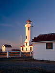 Jefferson County, WA      <br /> Evening light on Point Wilson Lighthouse, Fort Worden State Park, Quimper Peninsula, Puget Sound