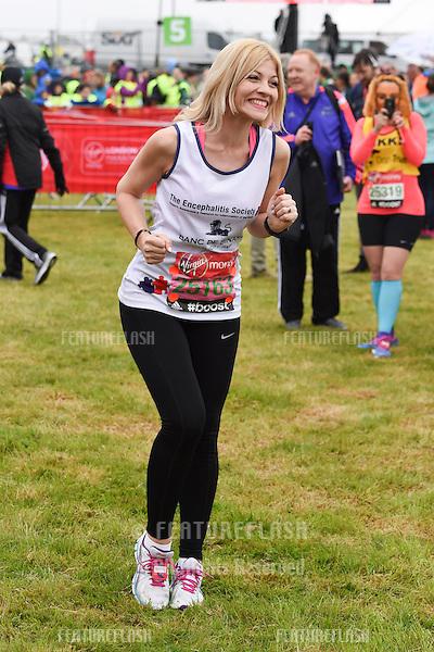 Aliki Chrysochou at the start of the 2015 London Marathon, Blackheath Common, Greenwich, London. 26/04/2015 Picture by: Steve Vas / Featureflash