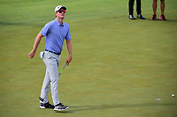 Justin Rose (GBR) reacts to barely missing his putt on 12 during Friday's round 2 of the 117th U.S. Open, at Erin Hills, Erin, Wisconsin. 6/16/2017.<br /> Picture: Golffile | Ken Murray<br /> <br /> <br /> All photo usage must carry mandatory copyright credit (&copy; Golffile | Ken Murray)