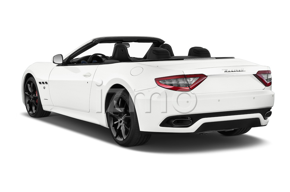 Car pictures of rear three quarter view of a 2014 Maserati GranTurismo Convertible Sport Door convertible Angular Rear