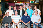 Greyhound Bar Golf Society Mervin Griffin, Captain's Prize event on Saturday. Pictured Front l-r  Andrew Robb, Melvin Griffin, Charles Erwin and Colm Sheehy. Back l-r  Eamon The Greek, Richard Roche, Brian Tess, Mark Teehan, Thomas O'Connor and Sean O'Mahony