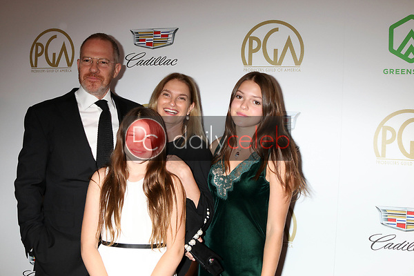 Toby Emmerich, Family<br /> at the 2019 Producer's Guild Awards, Beverly Hilton Hotel, Beverly Hills, CA 01-19-19<br /> David Edwards/DailyCeleb.com 818-249-4998