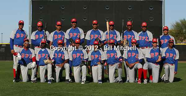 Dominican Prospect League all-stars (Blue Team) 2012 minor league spring training (Bill Mitchell)
