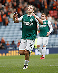 Jason Cummings reacts after missing his first half penalty kick