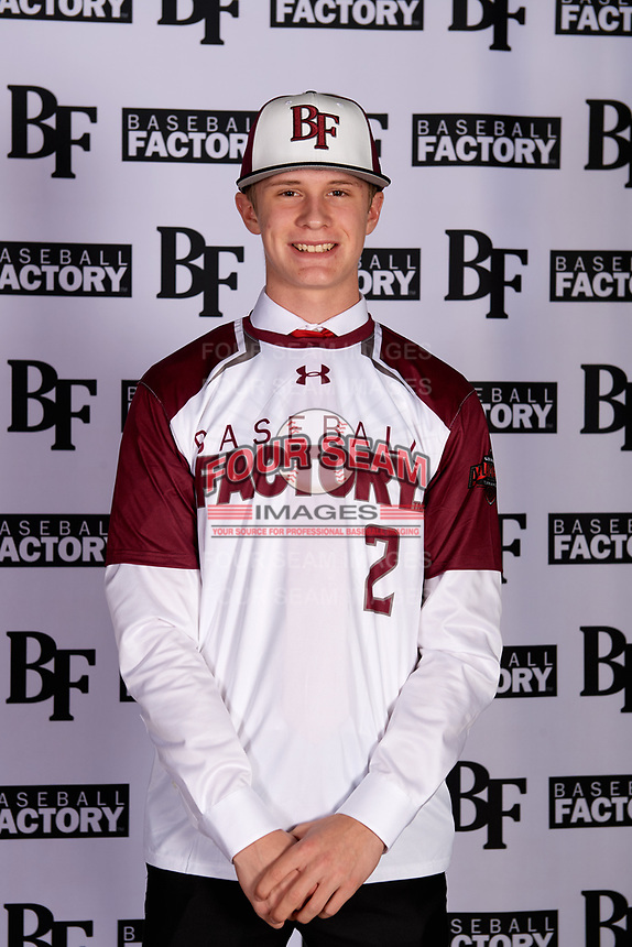 Derek Trobough (2) of Archbishop Murphy High School in Snohomish, Washington during the Baseball Factory All-America Pre-Season Tournament, powered by Under Armour, on January 12, 2018 at Sloan Park Complex in Mesa, Arizona.  (Mike Janes/Four Seam Images)