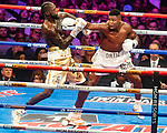 "NOV 23 2019 Las Vegas Nevada: WBC Heavyweight Champion Deontay ""The Bronze Bomber"" Wilder , Tuscaloosa, AL Wins with KO' and Cuban slugger Luis ""King Kong"" Ortiz,   Camaguey, CUB in There 2nd Heavyweight Championship fight at the MGM Grand on FOX/PBC : photo:"