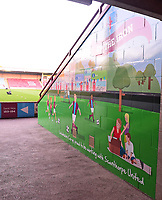 A general view of Glanford Park, home of Scunthorpe United FC<br /> <br /> Photographer Andrew Vaughan/CameraSport<br /> <br /> The EFL Checkatrade Trophy Northern Group H - Scunthorpe United v Lincoln City - Tuesday 9th October 2018 - Glanford Park - Scunthorpe<br />  <br /> World Copyright &copy; 2018 CameraSport. All rights reserved. 43 Linden Ave. Countesthorpe. Leicester. England. LE8 5PG - Tel: +44 (0) 116 277 4147 - admin@camerasport.com - www.camerasport.com