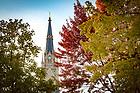 November 3, 2017; Basilica of the Sacred Heart steeple (Photo by Matt Cashore/University of Notre Dame)