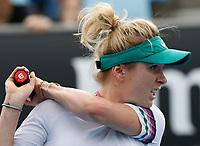 15th January 2019, Melbourne Park, Melbourne, Australia; Australian Open Tennis, day 2; Elina Svitolina of Ukraine returns the ball during match against Viktorij Golubic of Switzerland