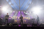 © Joel Goodman - 07973 332324 . 20/07/2013 . Suffolk , UK . Everything Everything on the BBC Radio 6Music Stage . The Latitude music and culture festival in Henham Park , Southwold . Photo credit : Joel Goodman