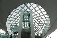 Nederland - Den Haag-  2018.   HSE station. In 2016 is bovenop Den Haag Centraal een nieuw station in gebruik genomen. Vanaf hier kunnen reizigers mee met de RandstadRail-verbinding naar Rotterdam.  Foto Berlinda van Dam / Hollandse Hoogte
