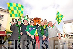Johnny Wall, Danny Leane, Marcus Howlett , Red Freddy (Red Cross Mascot) , Michael Gaffney, Mayor of Tralee Pat Hussey and  Sean Lyons  launch the 2014 Tralee St. Patricks Day Parade