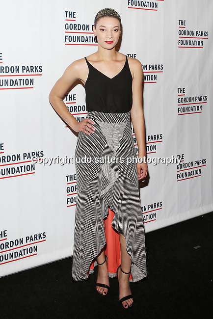 Singer and song writer Brittni Jessie attends THE GORDON PARKS FOUNDATION HONORS CONGRESSMAN JOHN LEWIS, MAVIS STAPLES,<br />