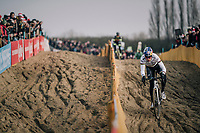course recon for CX World Champion Wout van Aert (BEL/Crelan-Charles)<br /> <br /> Belgian National CX Championships / Koksijde 2018