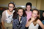 Anna schiko Emily Martin Jennifer  Nolan Adam sourin.at the junior disco in Clogherhead community hall..Picture: Fran Caffrey/www.newsfile.ie.