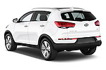 Car pictures of rear three quarter view of a 2014 KIA SPORTAGE Sense 5 Door SUV 2WD Angular Rear