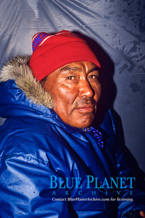 Inuit hunter, on ice floe, Canada, Arctic Ocean, MR