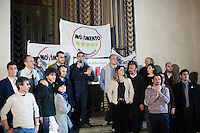 Parma: Federico Pizzarotti del movimento 5 stelle viene eletto sindaco di Parma dopo il ballottaggio con il candidato del PD Vincenzo Bernazzoli